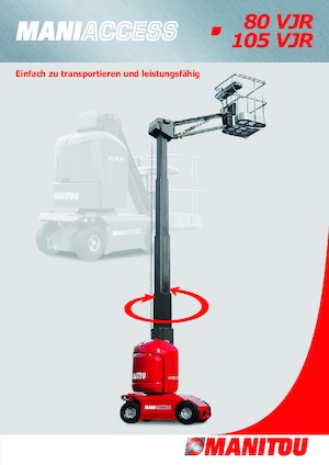 Vertikale Mastarbeitsbühnen auf Rädern Manitou 105 VJR