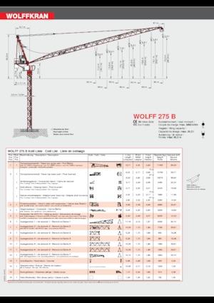 Turmkrane-N-od. Wolffkran 275 B