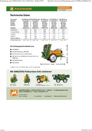 Anhänge-Feldspritzen Amazone UG 3000 Spezial (21)