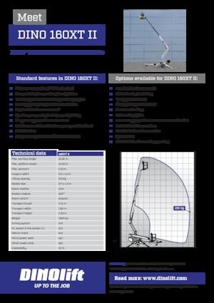 Anhänger-Teleskoparmbühnen DINO Lift ® Dino 160XT II