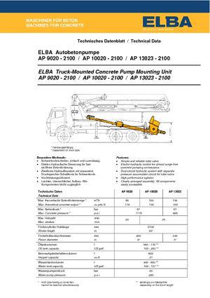 Autobetonpumpen m. Verteilermast Elba AP 10020