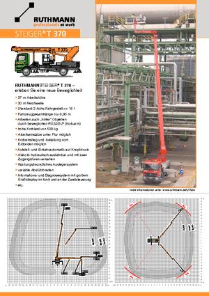 LKW Teleskop Arbeitsbühnen Ruthmann T 370