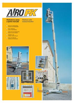 Vertikale Mastarbeitsbühnen auf Rädern AIRO PK 10200 E