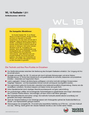 Radlader Wacker Neuson WL 18