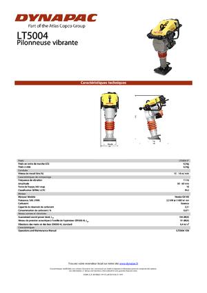 Vibrationsstampfer 4-Takt Benzin Dynapac LT 5004 9