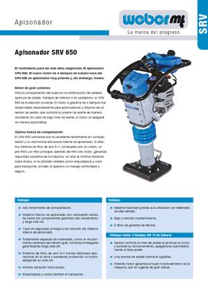 Vibrationsstampfer 4-Takt Benzin weber mt SRV 650