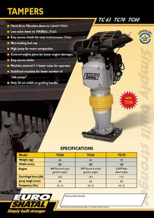 Vibrationsstampfer 4-Takt Benzin Shatal TC 60
