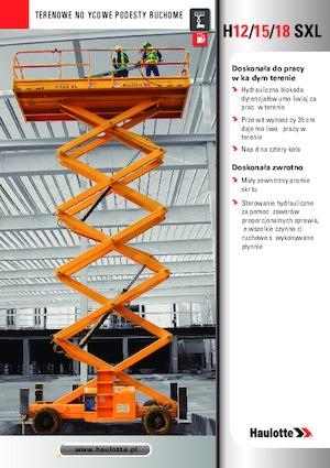Scherenbühnen X auf Rädern Haulotte H15 SXL